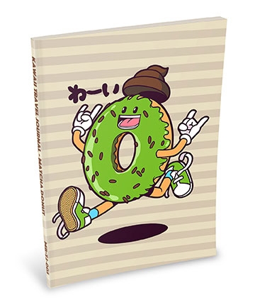 Kawaii Notebook: Matcha Donut