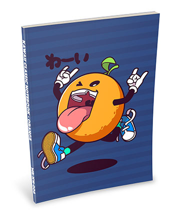 Kawaii Notebook: Orange