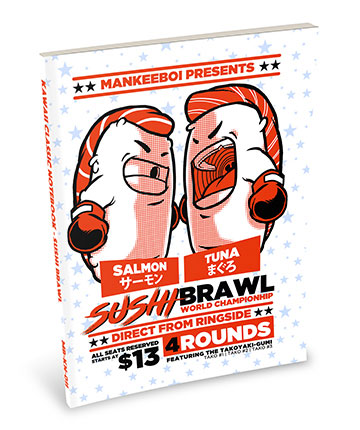 Kawaii Notebook: Sushi Brawl