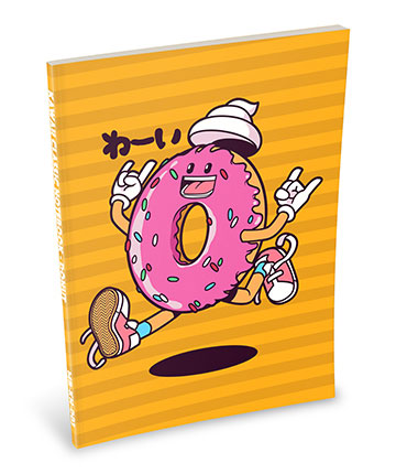 Kawaii Notebook: Jumping Donut